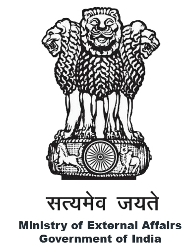 MINISTRY OF EXTERNAL AFFAIRS, GOVERNMENT OF INDIA/ EMBASSY OF INDIA TUNISIA logo